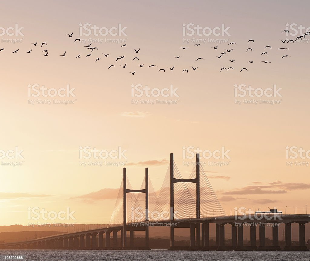 The Second Severn Crossing royalty-free stock photo
