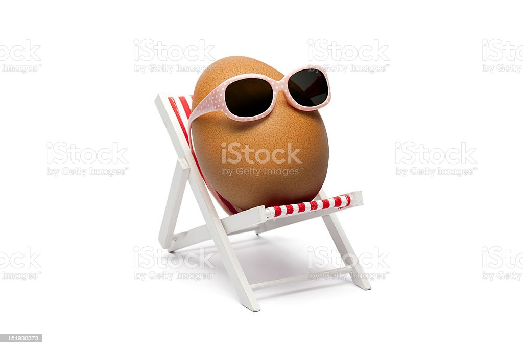 The secret about brown eggs stock photo