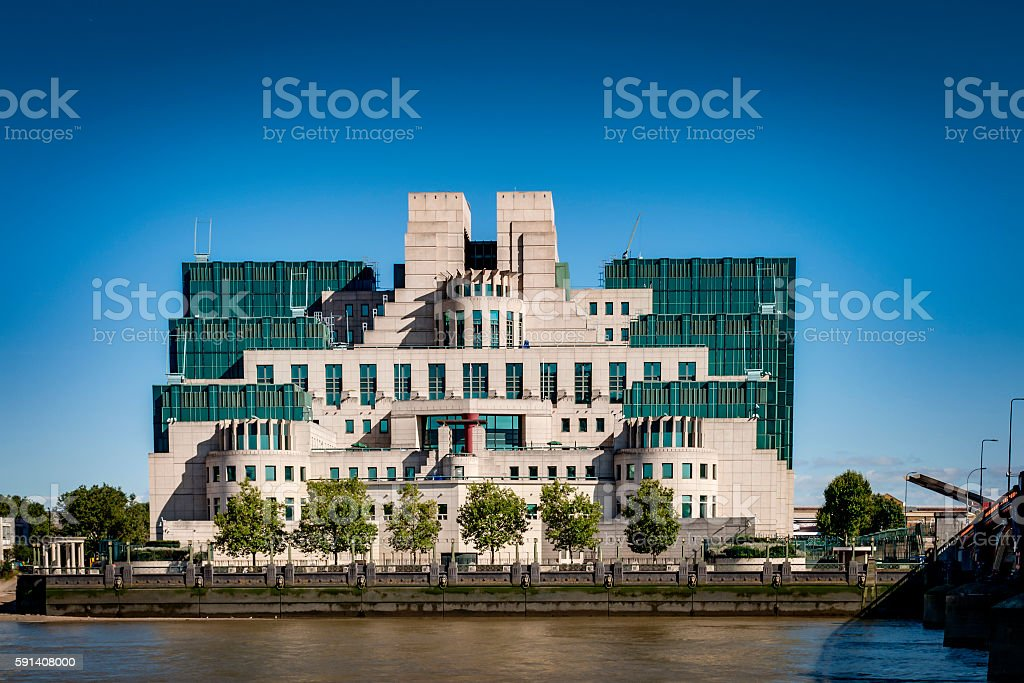 The Secret Intelligence Service (SIS) building in London, England, UK stock photo