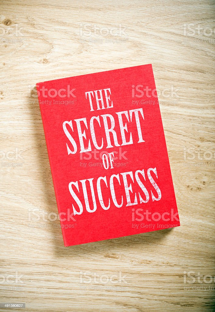 the secret of success stock photo