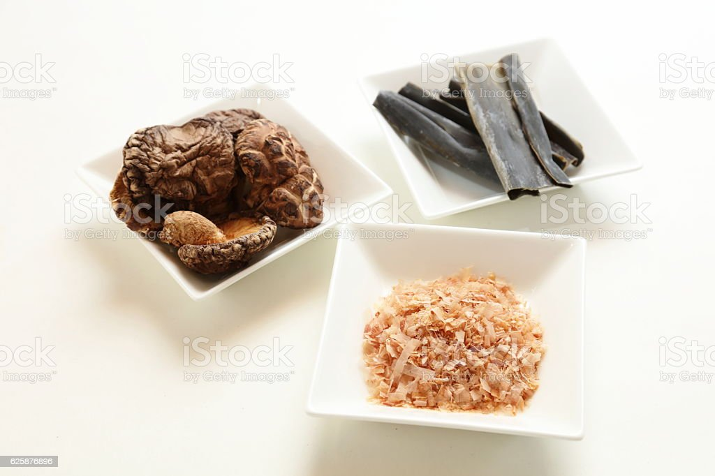 The secret of the soup stock taste of Japan(dashi) stock photo