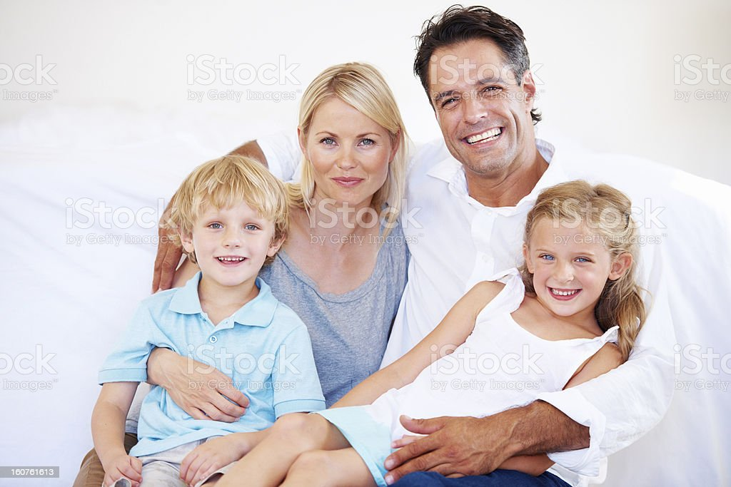 The security of a close family is invaluable royalty-free stock photo