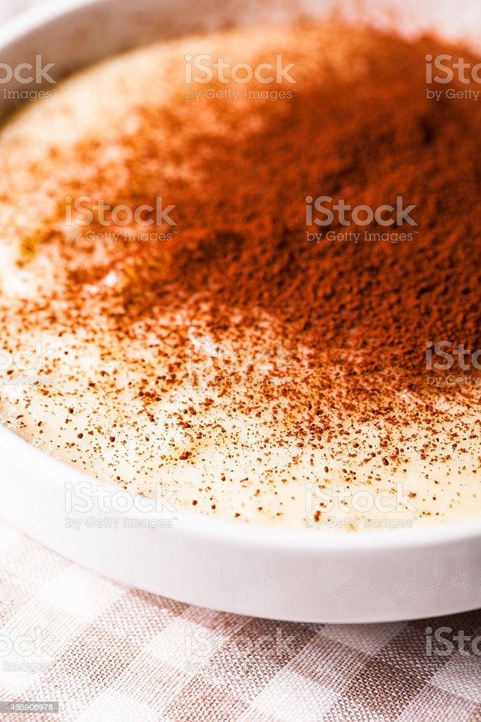 The semolina cream stock photo