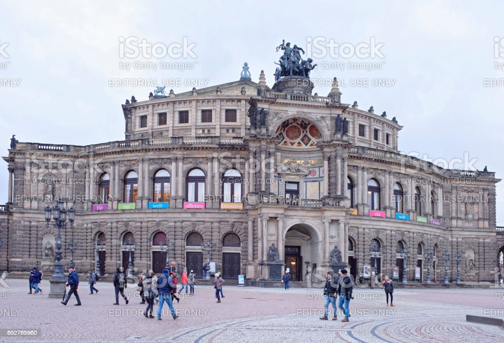 The Semper Opera House stock photo