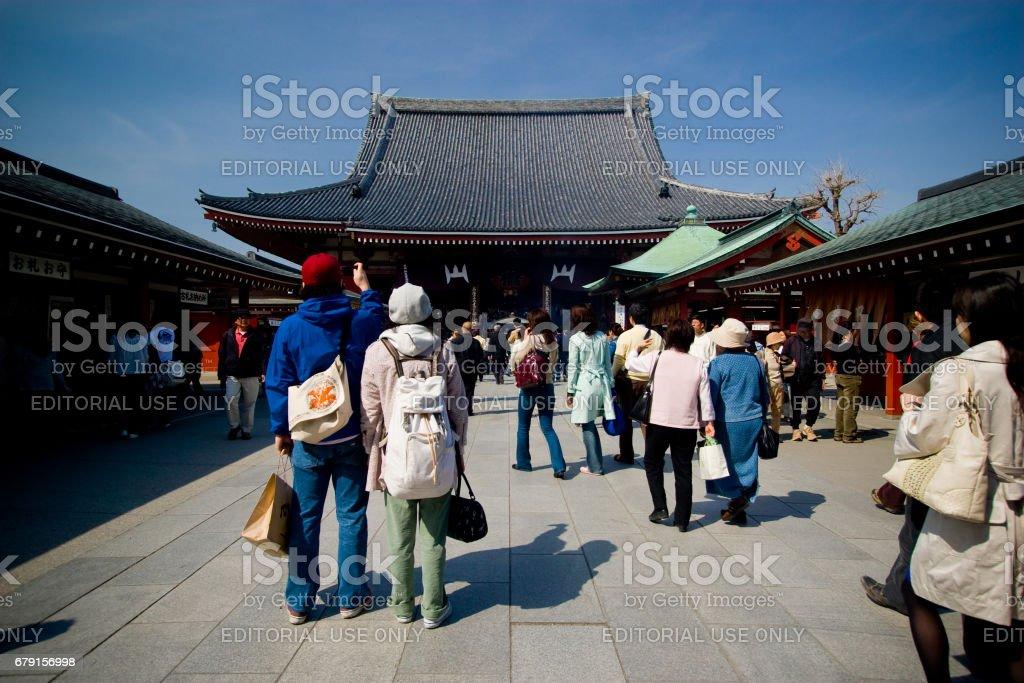 The Senso-ji Temple stock photo