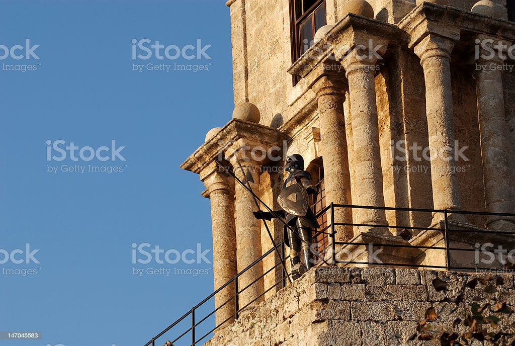 The Sentinel, Rhodes, Greece royalty-free stock photo