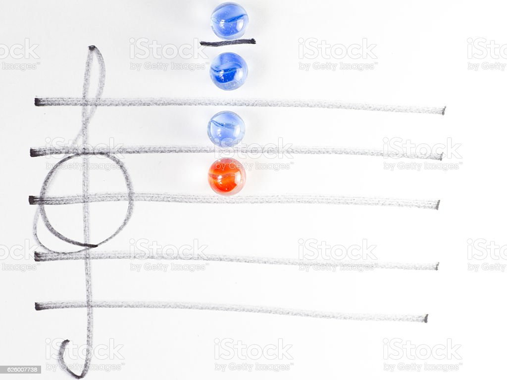 The series of chord diagram, C7 stock photo