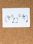 The series of Japanese emoticons called Kaomoji, surprised