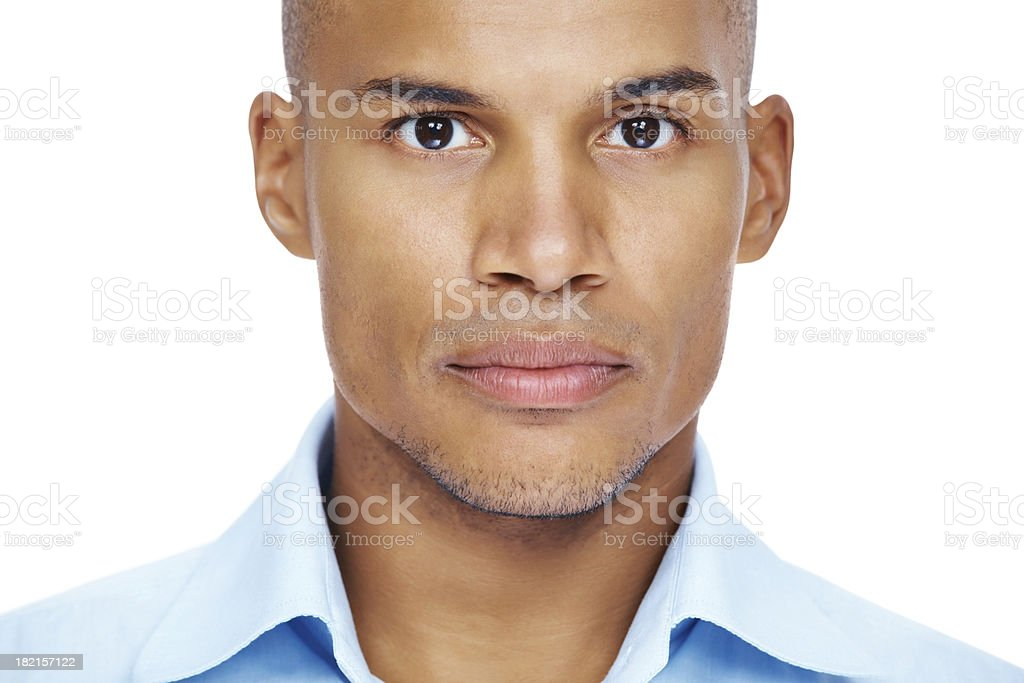 The serious side of business stock photo
