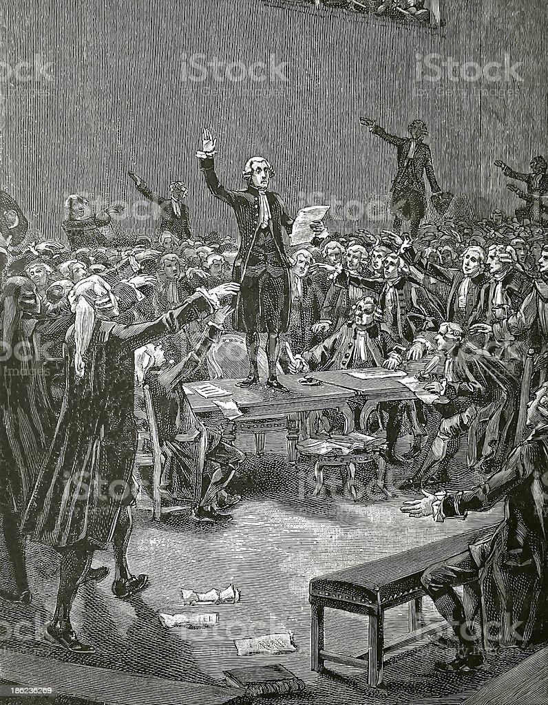 The 'Serment du Jeu de Paume', French revolution stock photo