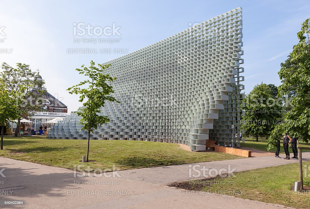 The Serpentine Gallery summer pavilion stock photo