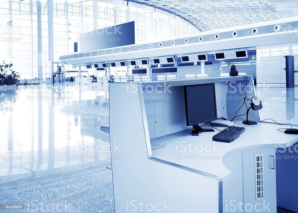 The service of airport terminals royalty-free stock photo