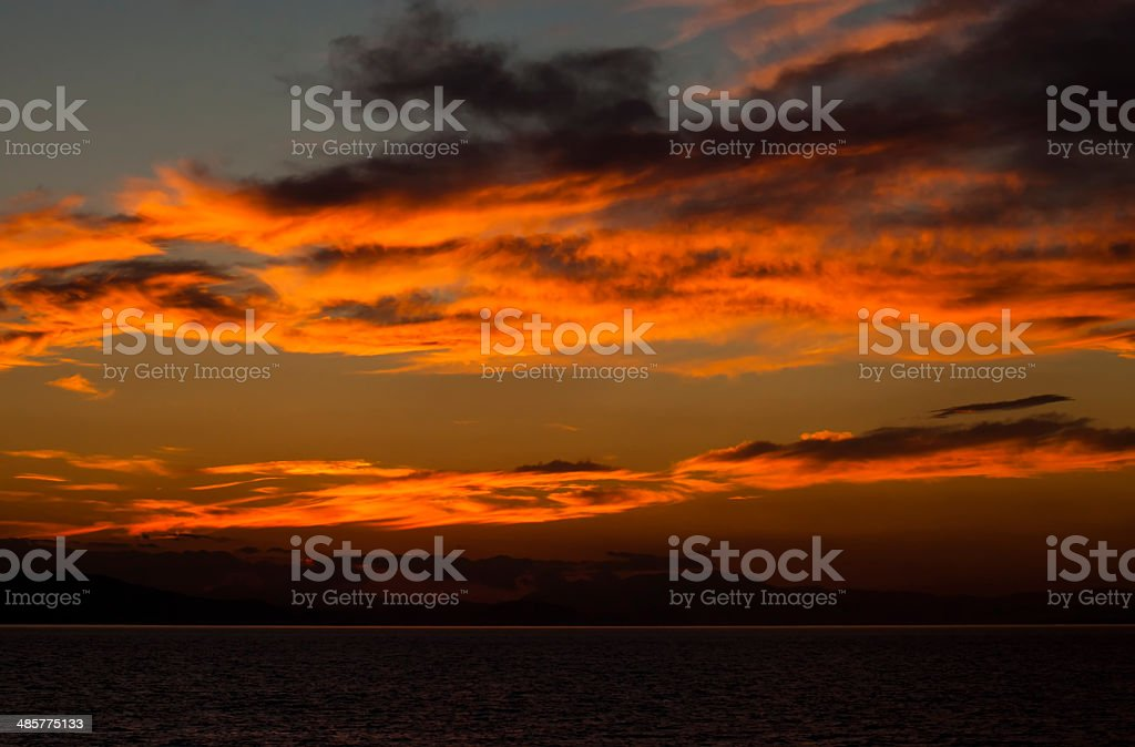 The setting sun royalty-free stock photo