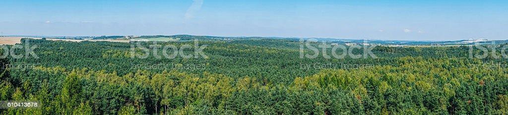 The Settlement on Mount Birow in Podzamcze stock photo