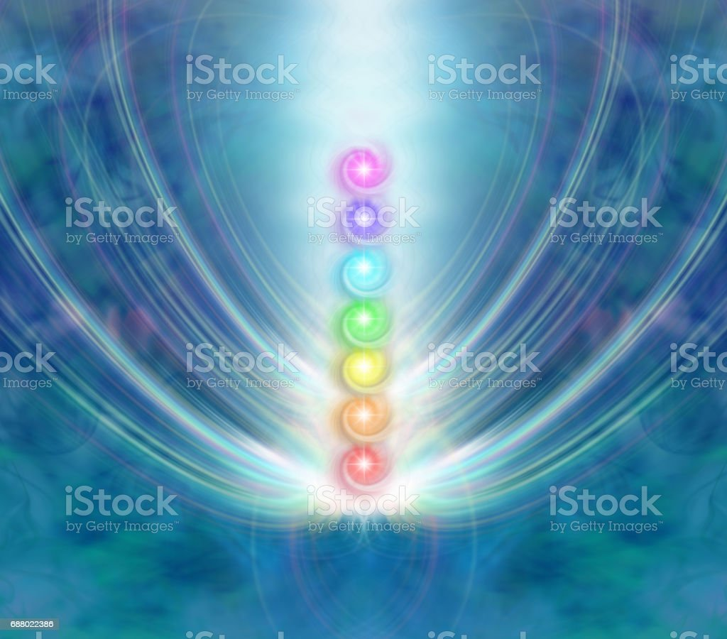 The Seven Chakras stock photo