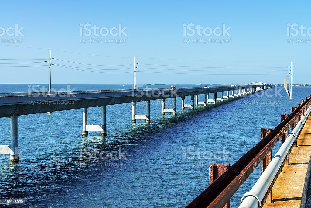 The Seven Mile bridge, Keys, Floride stock photo