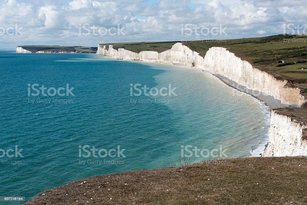 The Seven Sisters Chalk Cliffs stock photo