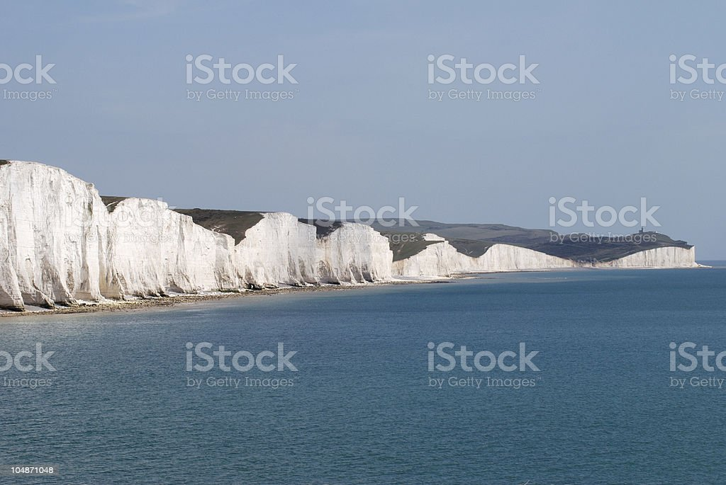 The Seven Sisters Cliffs near Eastbourne. England royalty-free stock photo