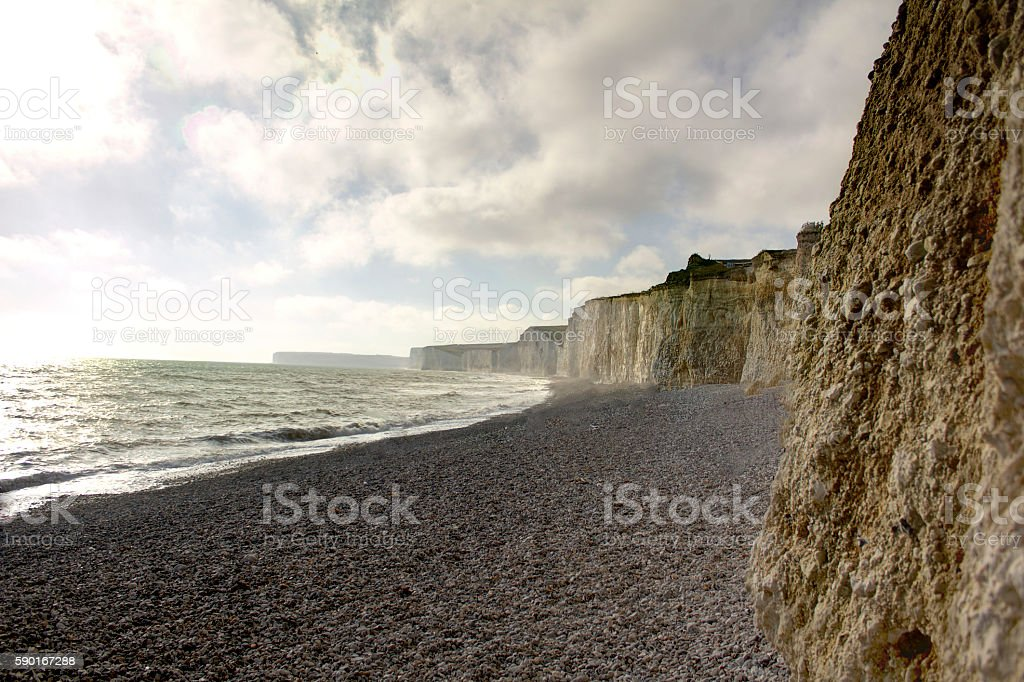 The Seven Sisters, Sussex, England stock photo