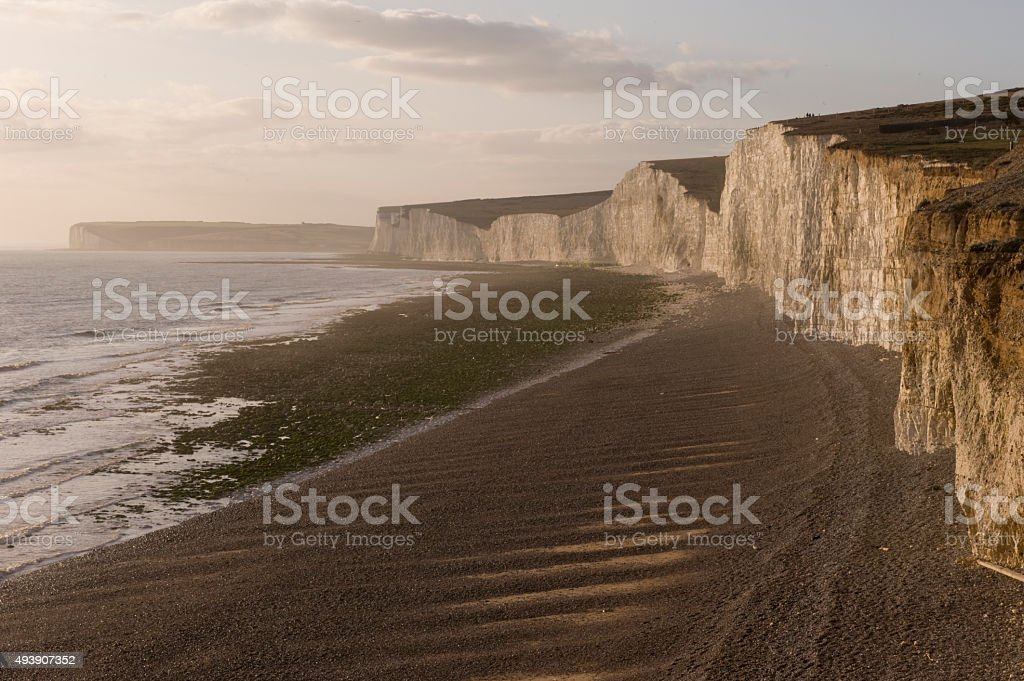 The Seven Sisters viewed from Birling Gap, East Sussex stock photo