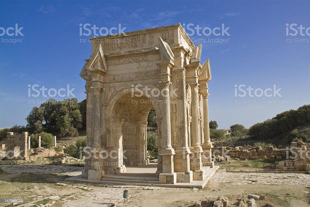 The Severan Arch stock photo