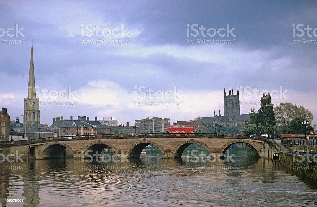 The Severn Bridge at Worcester, UK stock photo