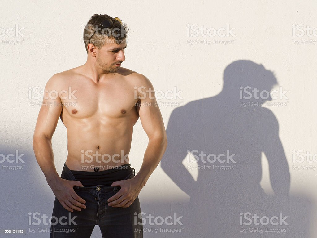 The shadow stock photo