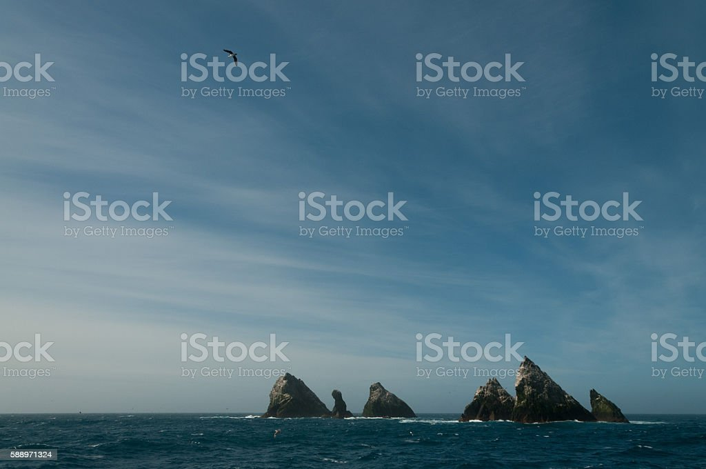 The shag rocks stock photo