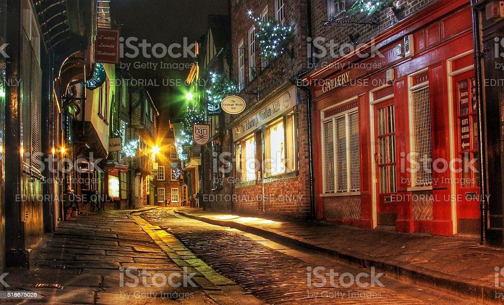 The Shambles In York, UK stock photo