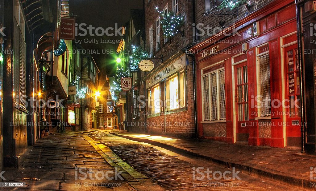 The Shambles In York, UK stock photo