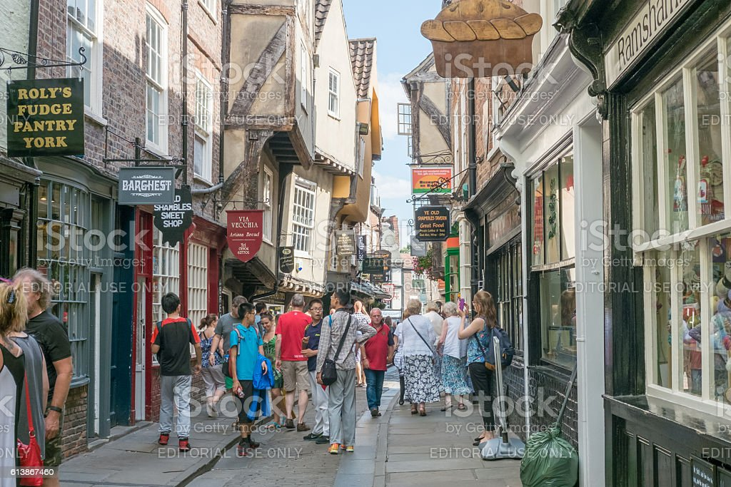 The Shambles, York. stock photo