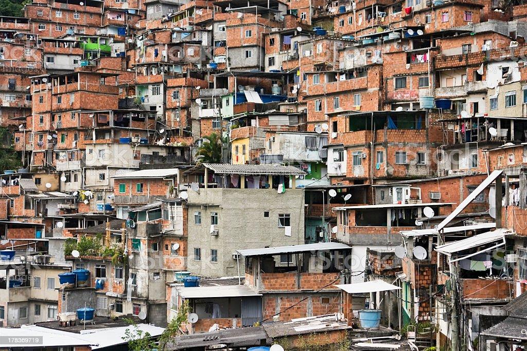 The shanty town slums of Rio de Janeiro royalty-free stock photo