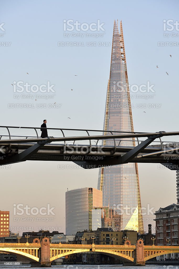 The Shard building in London royalty-free stock photo