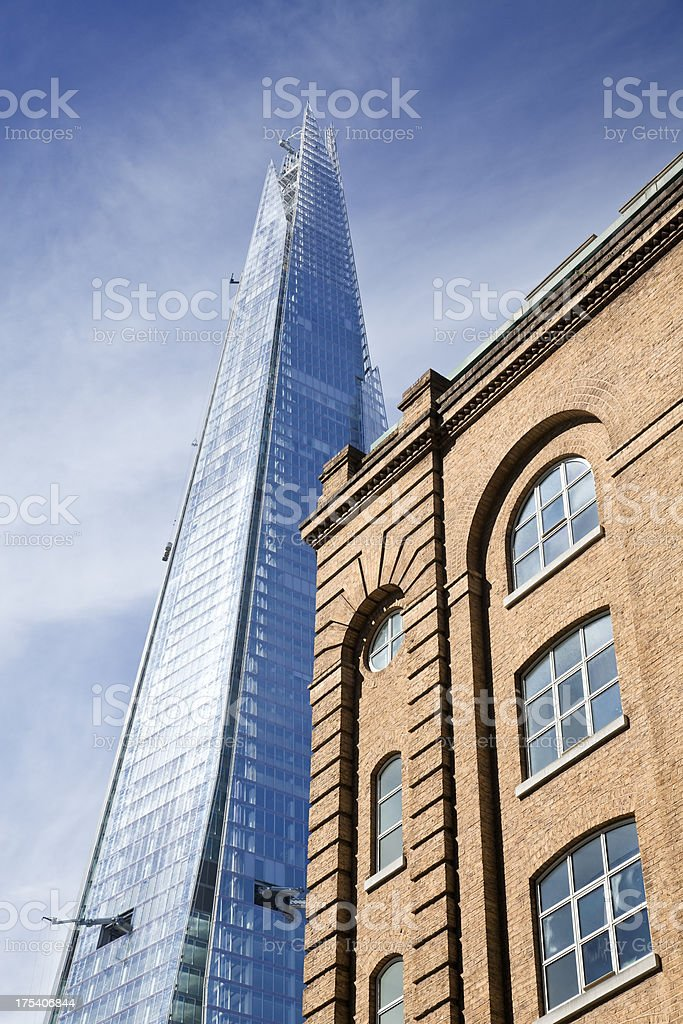 The Shard in London, England stock photo