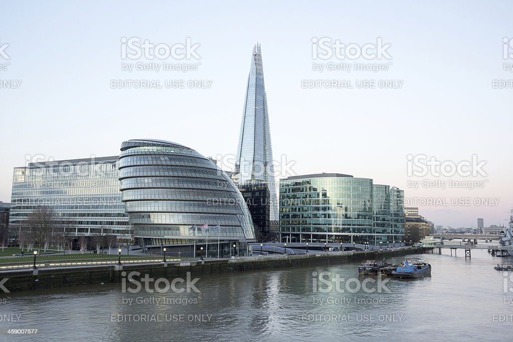 The Shard in Southwark, London royalty-free stock photo