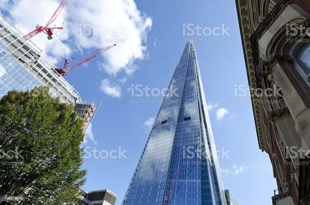 The Shard skyscraper, central London stock photo