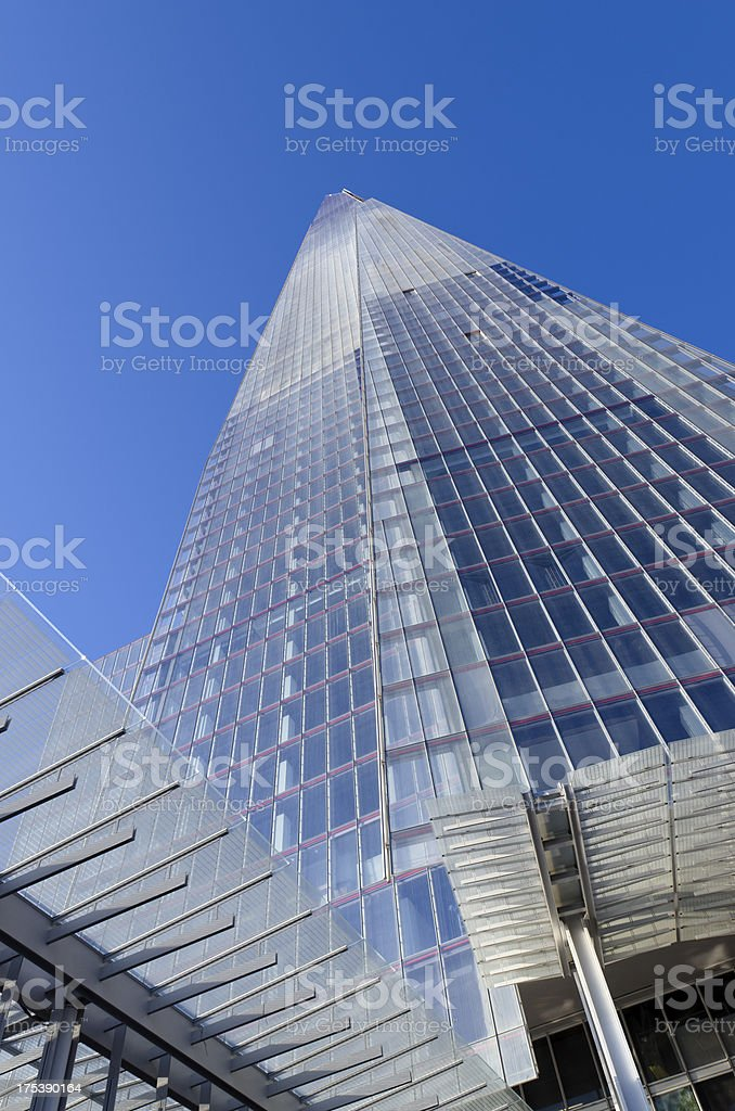 The Shard skyscraper, central London royalty-free stock photo