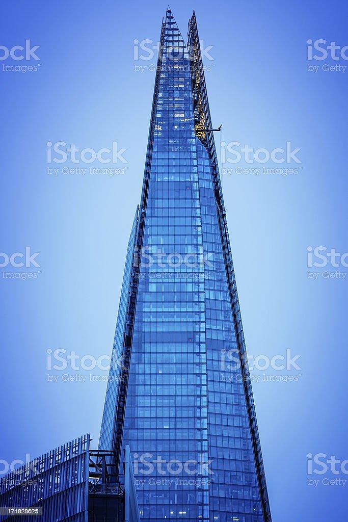 The Shard skyscraper in London royalty-free stock photo