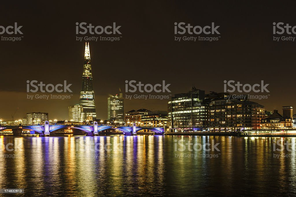 The Shard skyscraper in London royalty-free stock photo