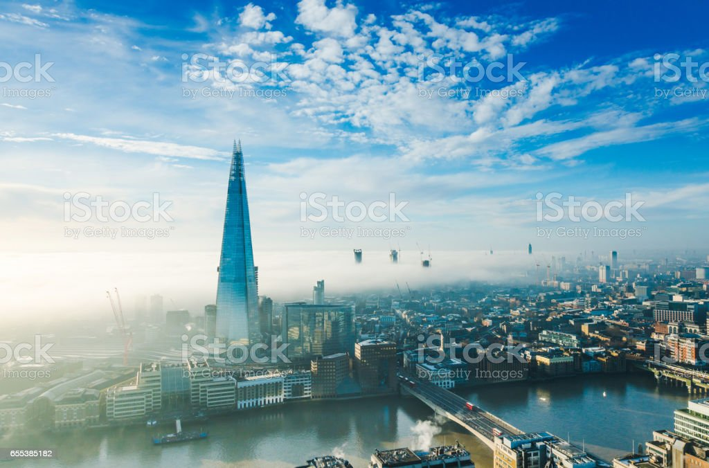 The Shard skyscraper in London stock photo