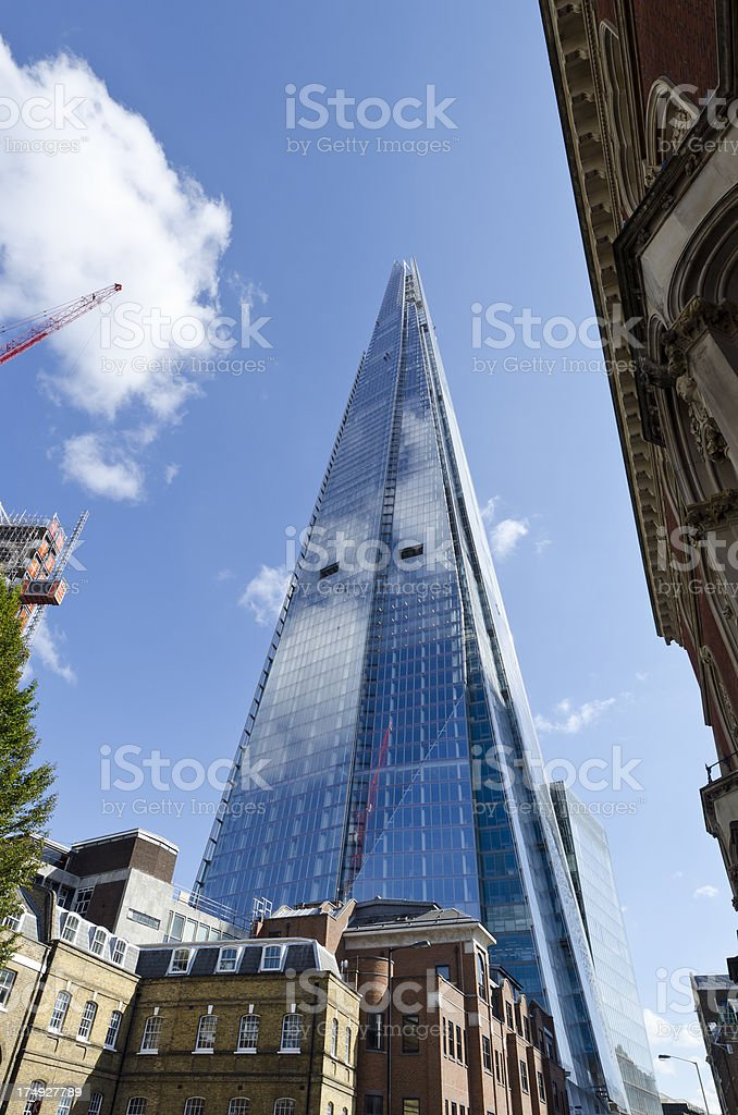 The Shard skyscraper, London royalty-free stock photo