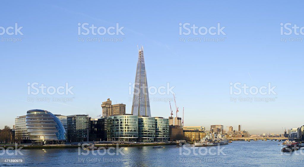 The Shard skyscraper, London skyline dawn panorama royalty-free stock photo