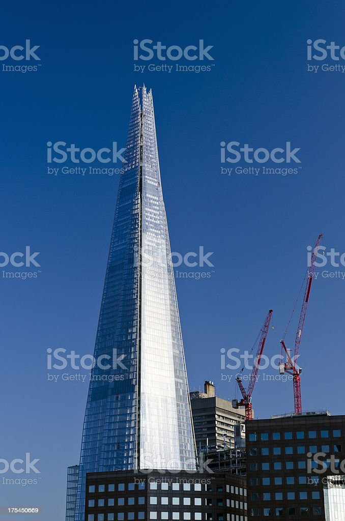 The Shard skyscraper, Tower Bridge quarter, London royalty-free stock photo