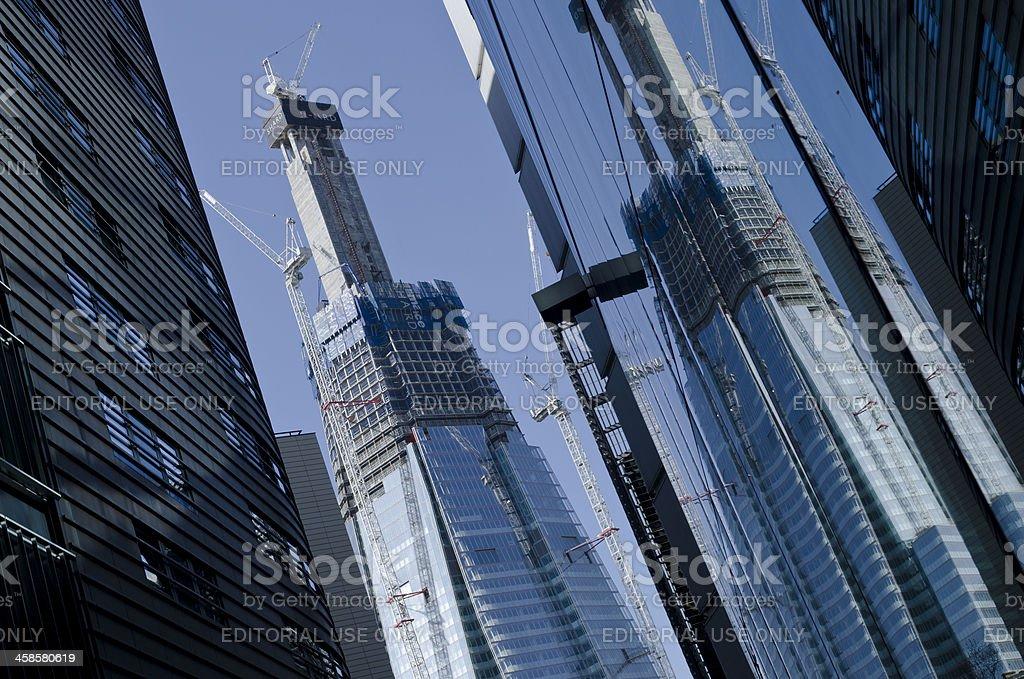 The Shard skyscraper under construction, Tower Bridge quarter, London royalty-free stock photo