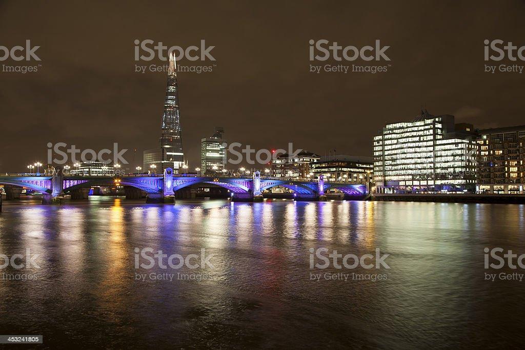 The Shard & Southwark Bridge royalty-free stock photo