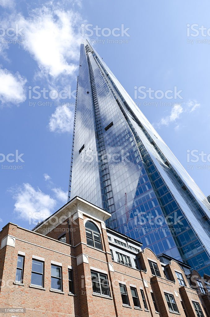 The Shard, Western Europe's tallest skyscraper, London royalty-free stock photo