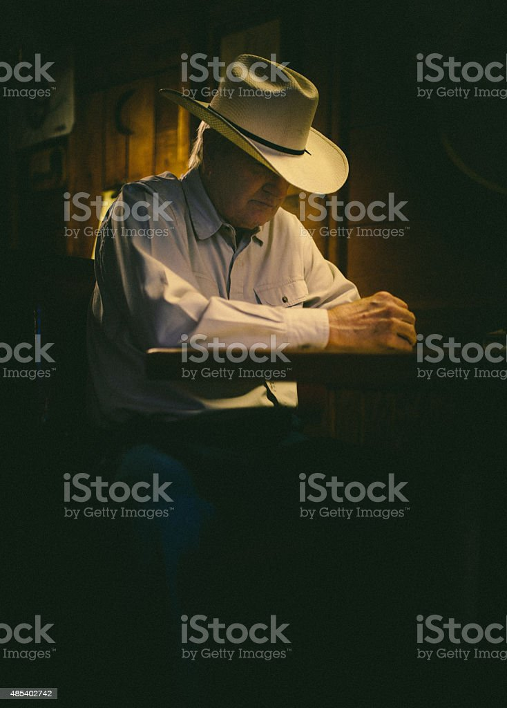 The sheriff got to eat stock photo