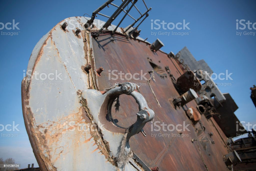 The ship graveyard stock photo
