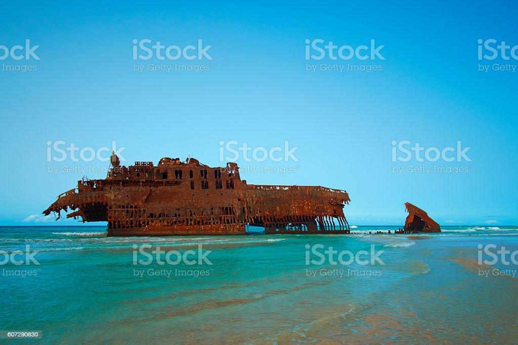 The Shipwreck Of Boa Vista stock photo