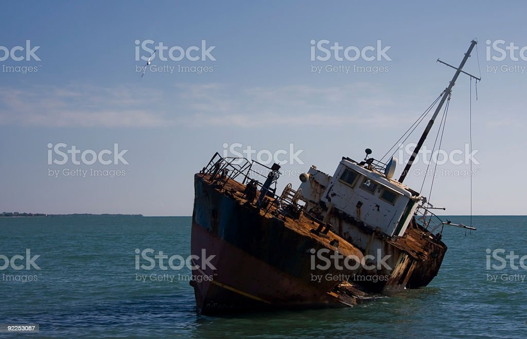 The Shipwreck royalty-free stock photo